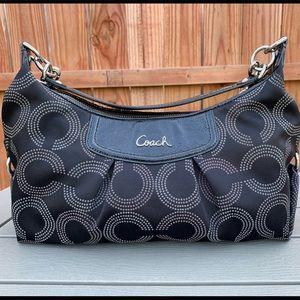 Coach Ashley signature hobo satchel black handbag